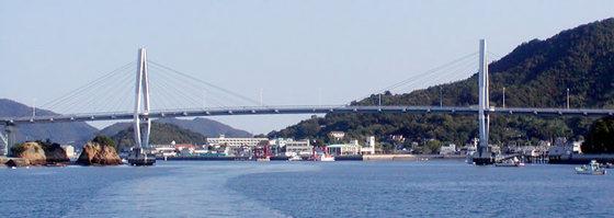 弓削港からの風景